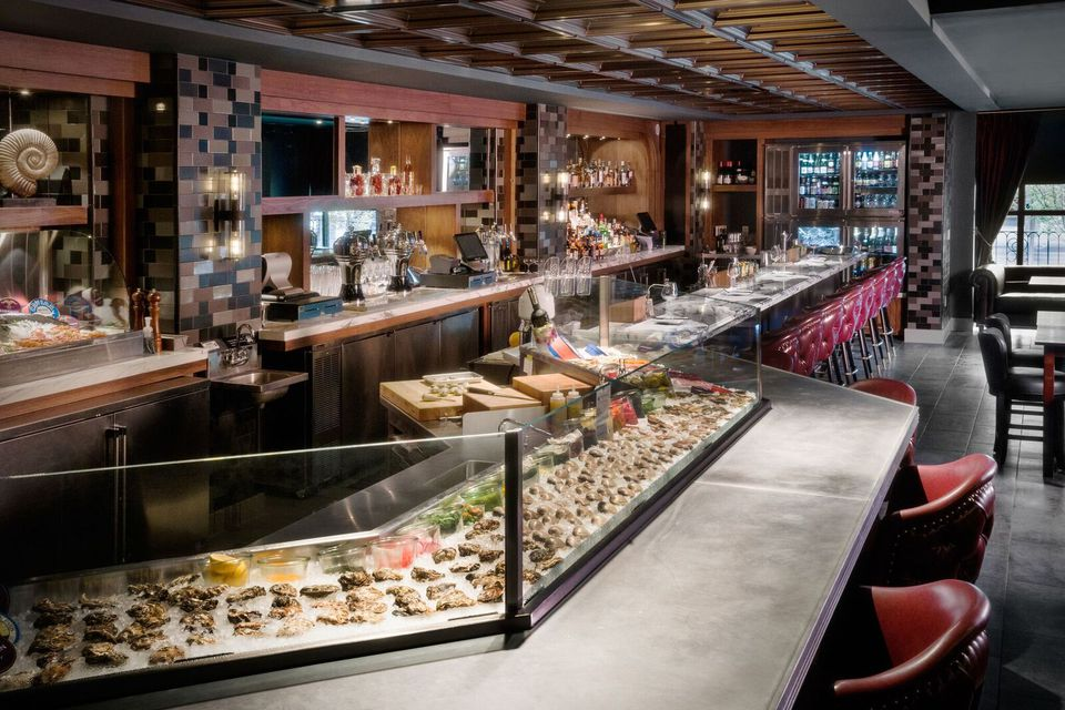 The raw bar and open kitchen at Siren in Washington, D.C.