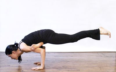 the key to mastering crow pose or bakasana