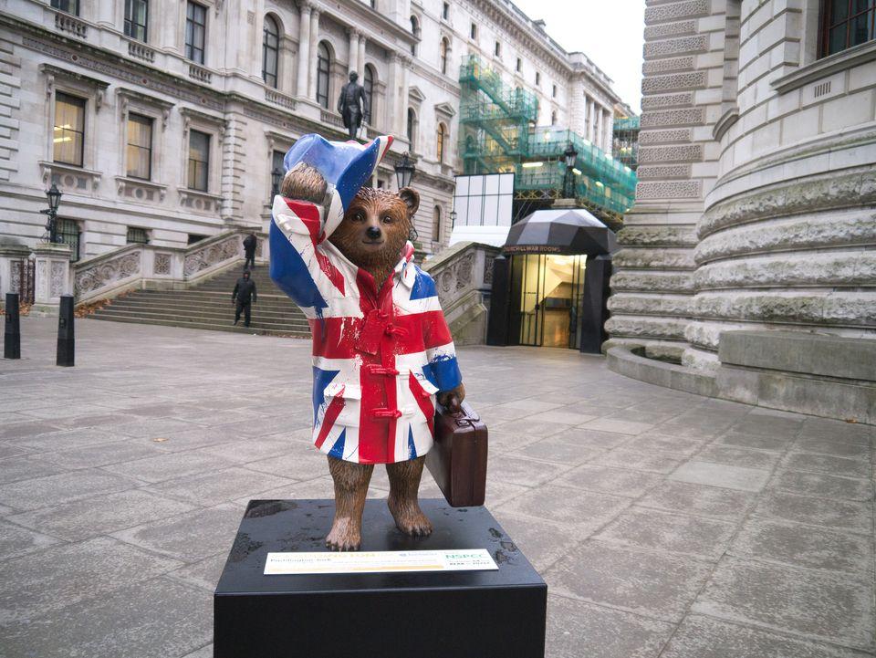 Paddington Bear statue in London