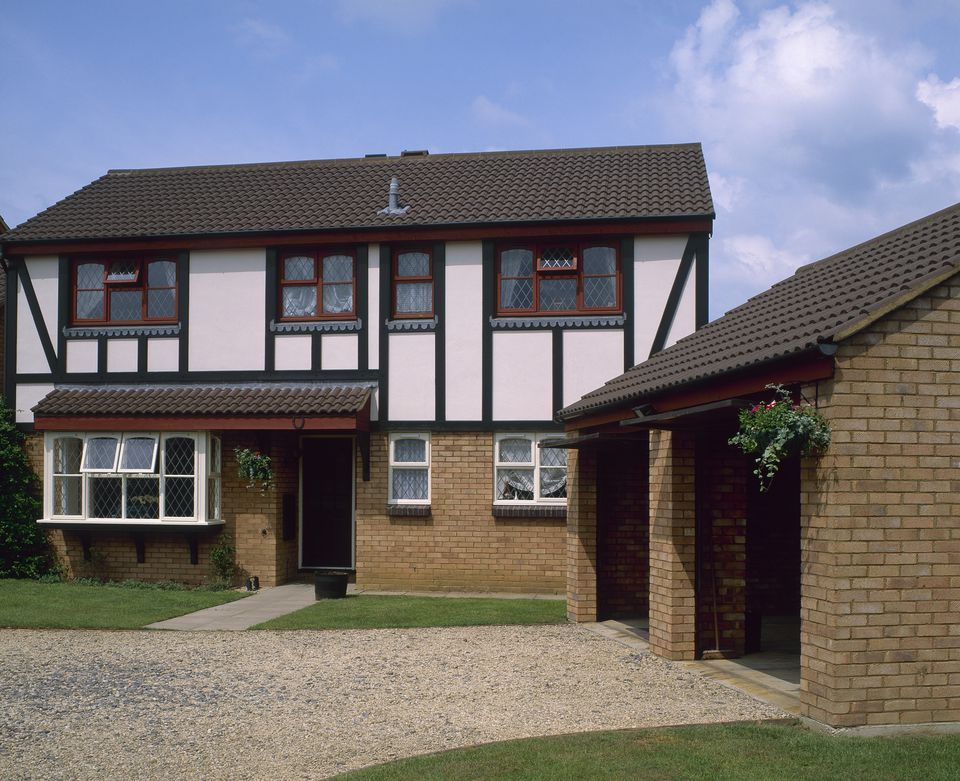 Detached modern house with a double garage, Wiltshire, England