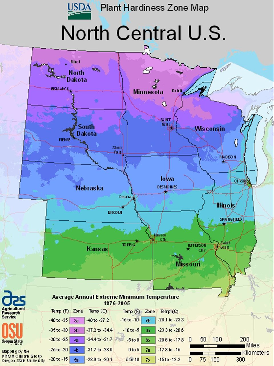 Maps For Growing Zones From The USDA How Cold It Gets - Us zone map