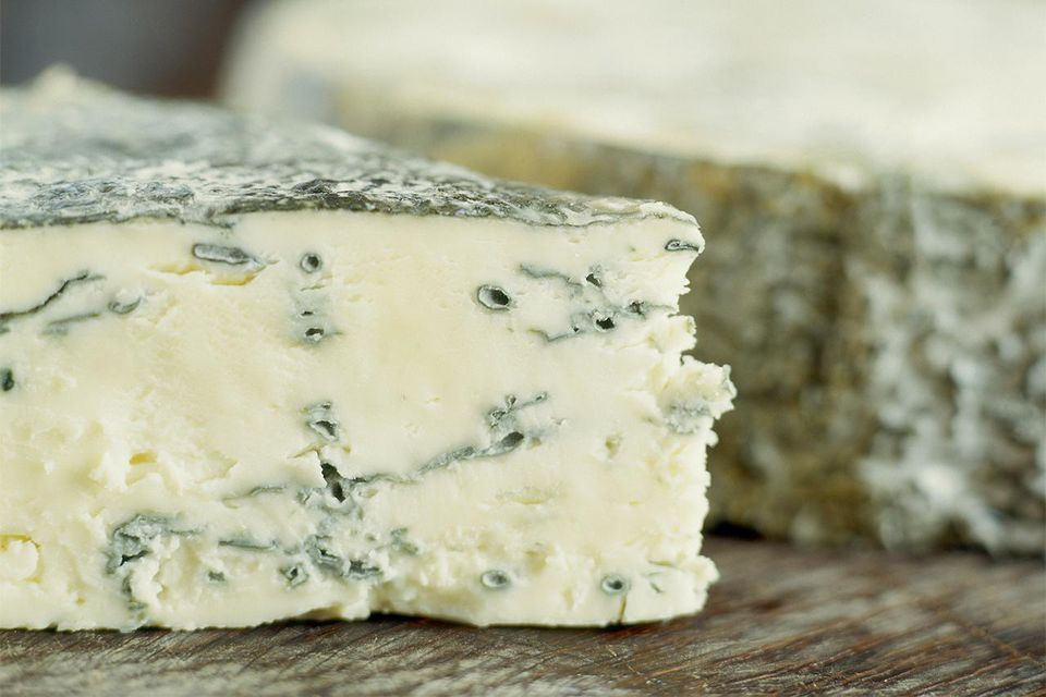 Yorkshire blue cheese, close up