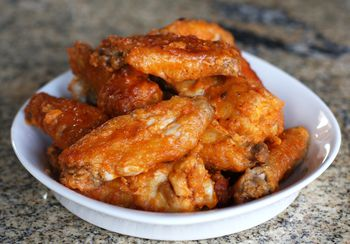 Homemade Buffalo Wings And Blue Cheese Dip