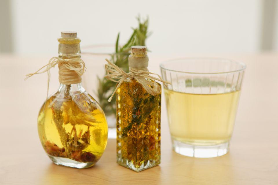 Bottles of herbs