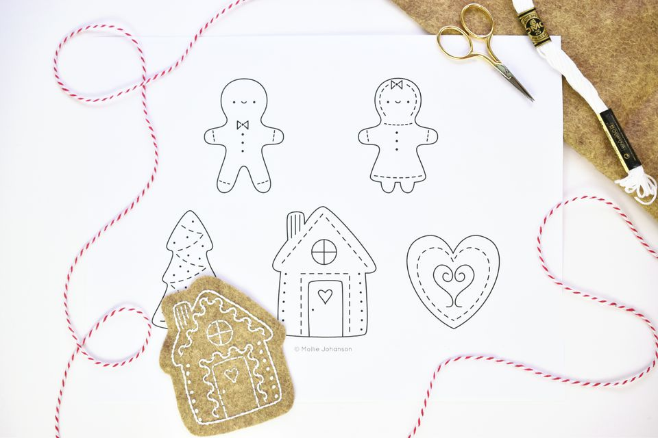 Sweet Gingerbread Cookies Embroidery Pattern