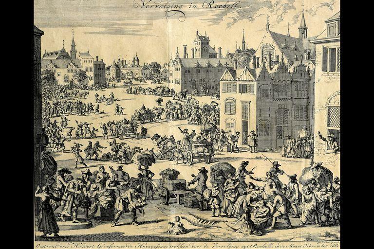 Huguenot Families Fleeing, 1661
