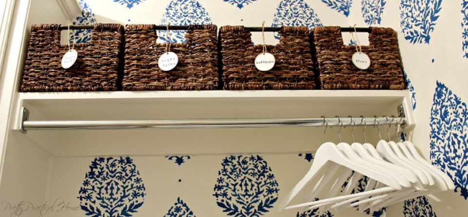 Wicker Basket Shelves BIG