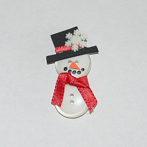 How to Make a Snowman Out of Buttons