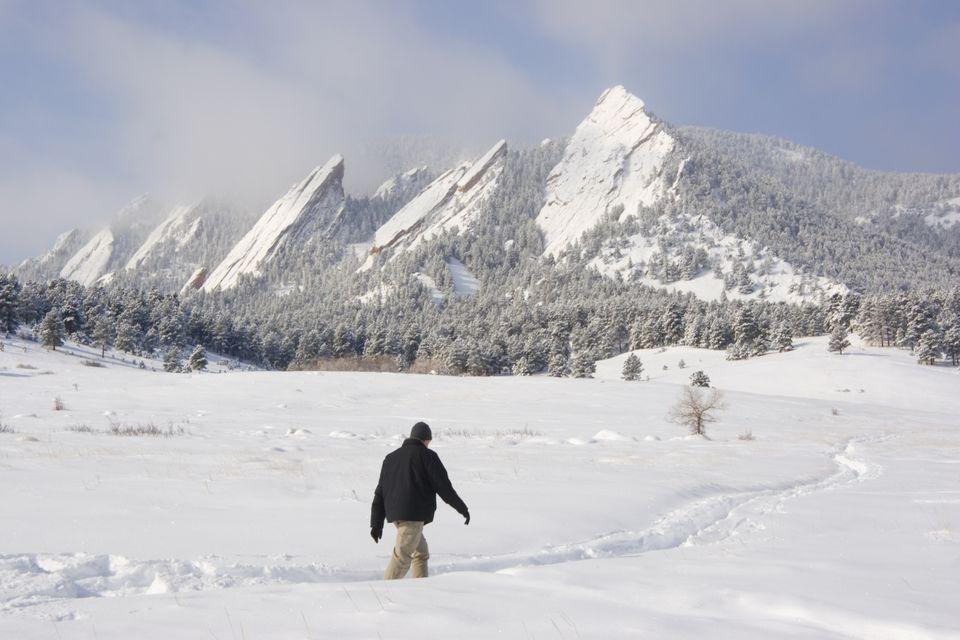 Colorado winter hiking