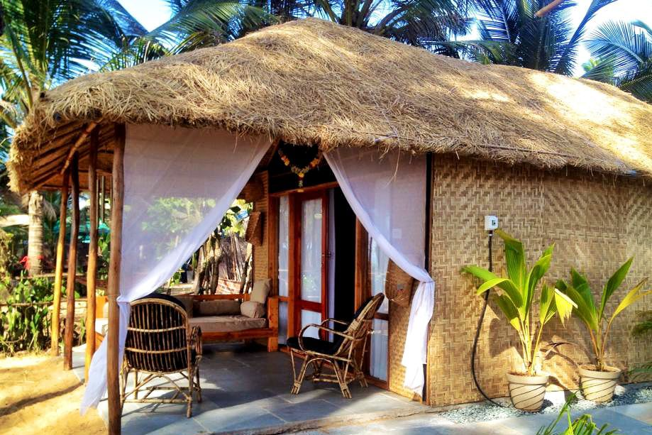 Luxury hut at Surya Beach Cafe, Galjibag.