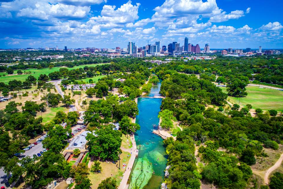 Barton Springs Paradise in the Capital City of Austin Texas