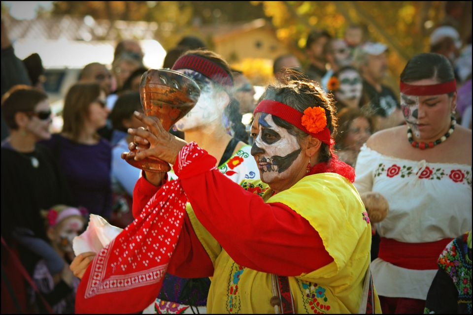 The smoking goblet Day of the Dead