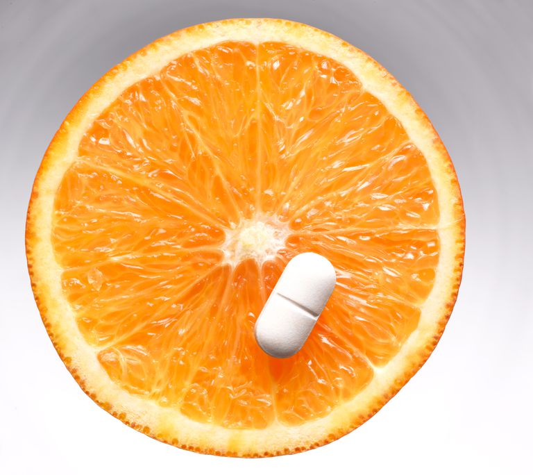 Vitamin C is an organic compound, whether it comes from a fruit or a lab.