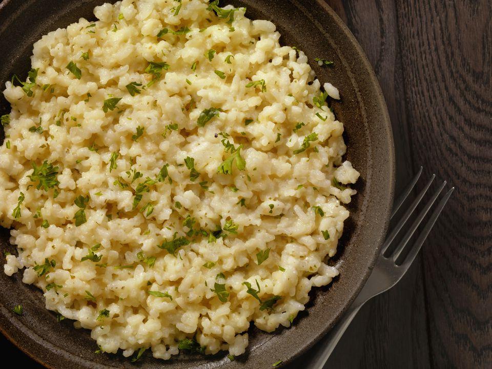 Vegan cheesy risotto