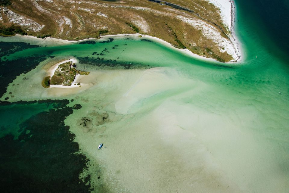 Aerial View Of Caladesi Island State Park