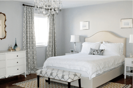 beautiful romantic gray and white bedroom - Grey And White Bedroom Design