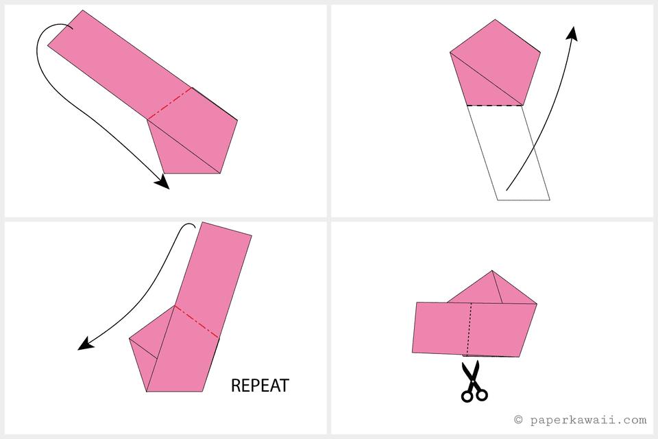 tutorial origami lucky star