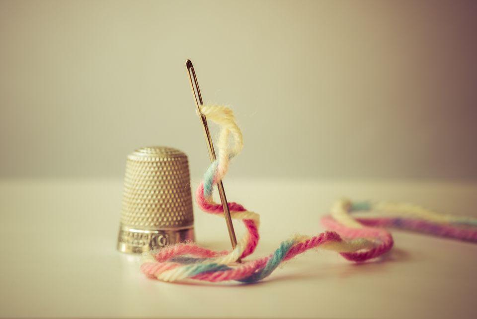 Needle, Wool, and Thimble