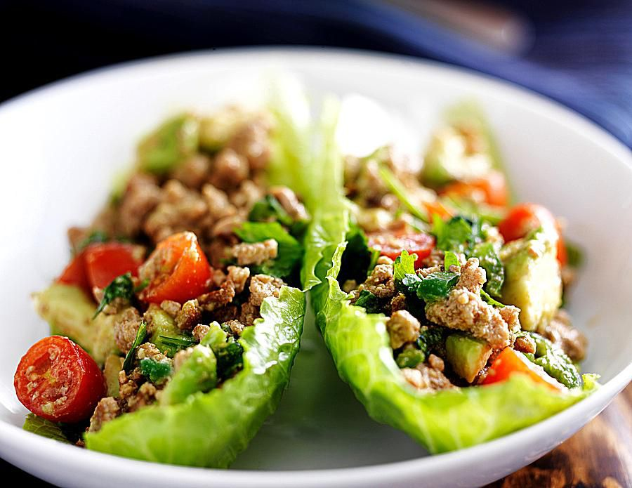 Thai Lettuce Wraps with Beef & Fresh Basil!