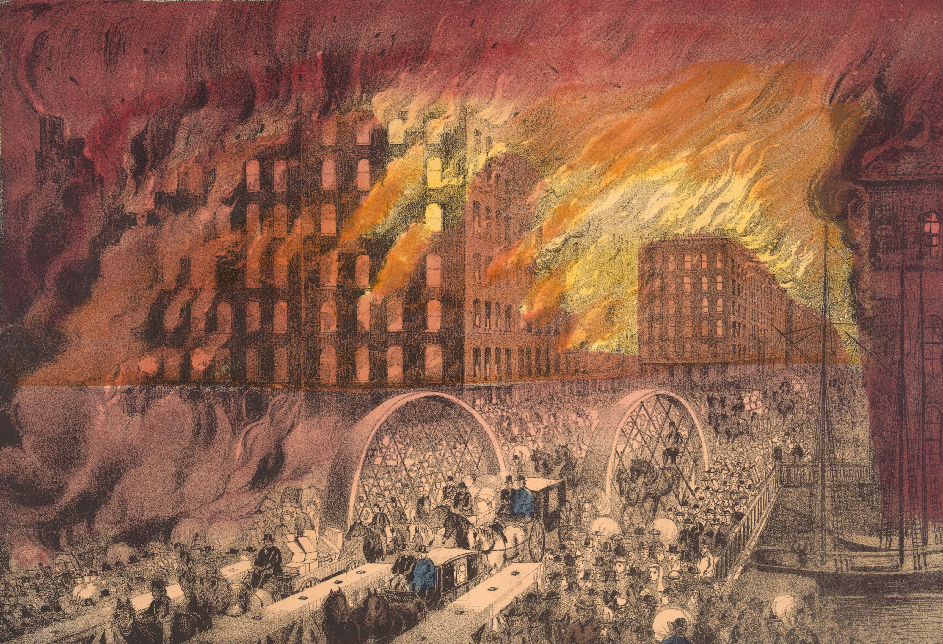 the consequences of the great chicago fire of 1871 In 1871, the most famous fire in american history swept across chicago and destroyed much of the city according to legend, the great chicago fire was started when a cow owned by an irish immigrant named mrs o'leary kicked over a lantern in the.