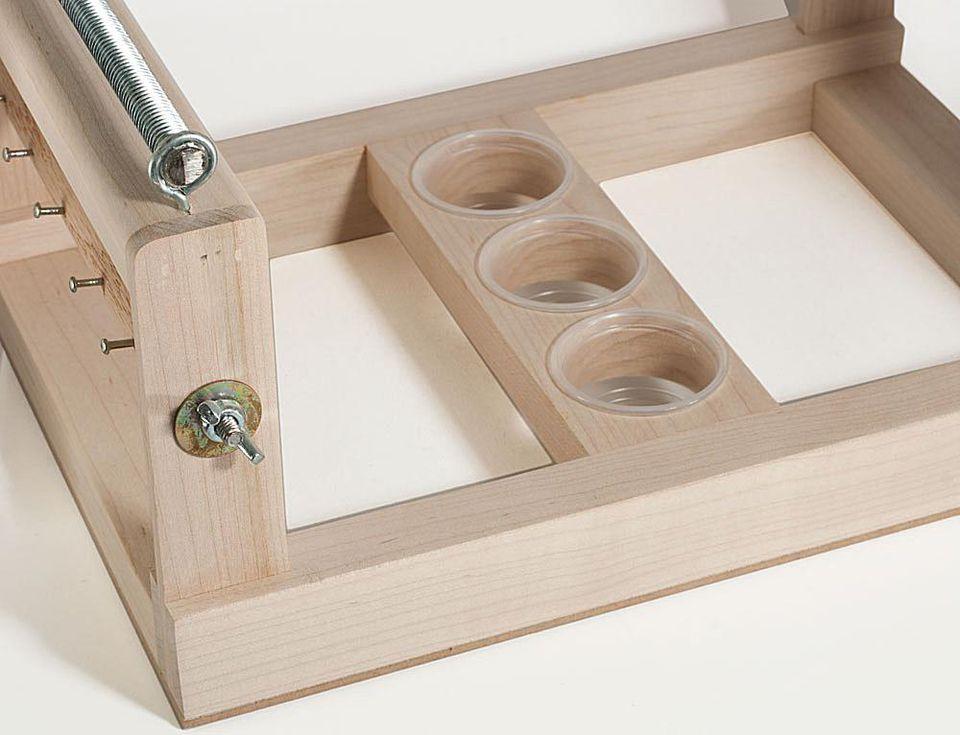 Wood bead loom frame