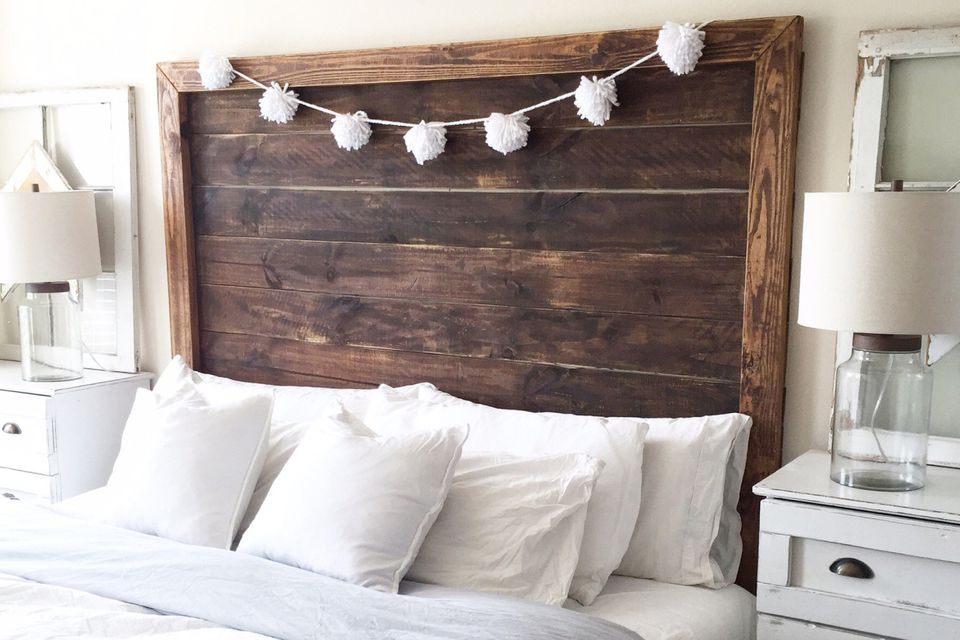 25 diy headboards you can make in a weekend or less for Makeshift headboard