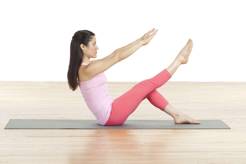 One Leg Teaser Pilates Mat Exercise