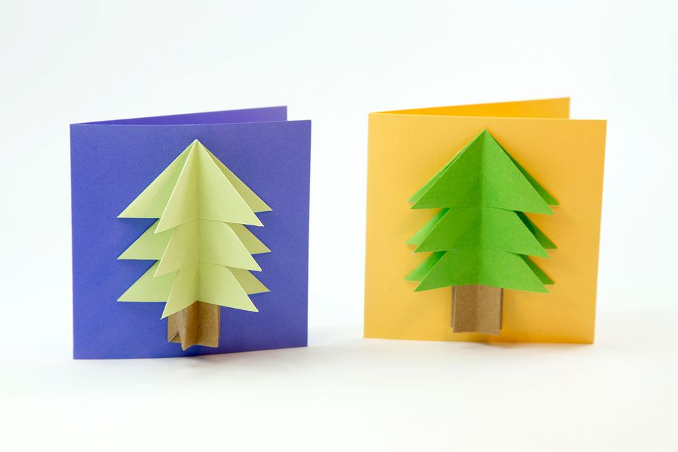 origami christmas tree card tutorial 00