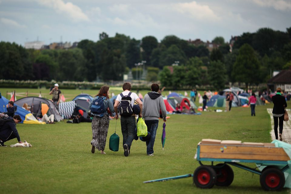 Wimbledon camping
