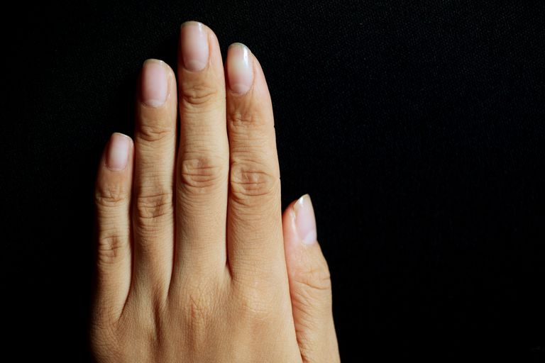 Close up of left hand
