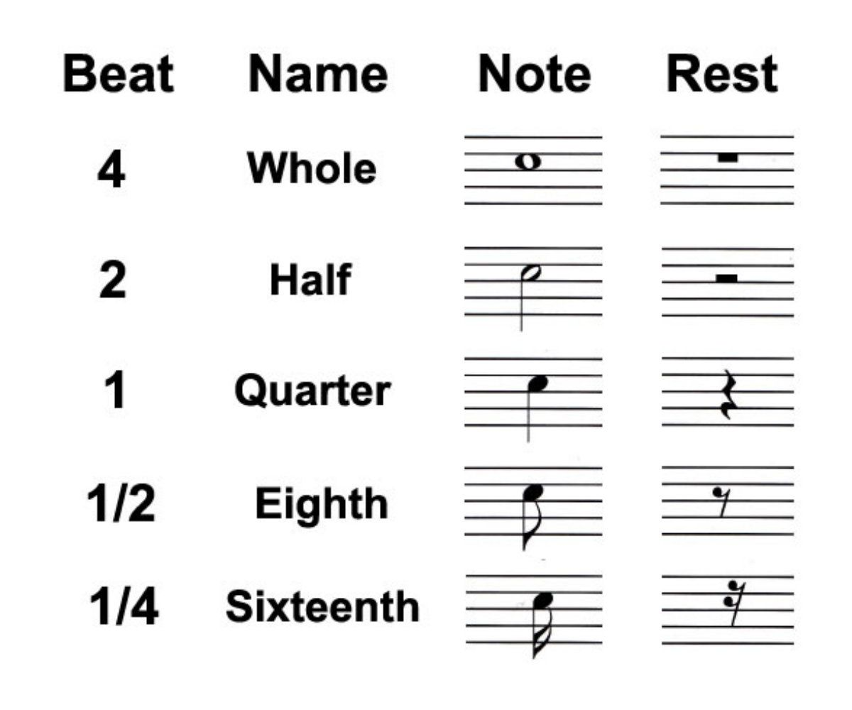 Types of rests in music whole half and quarter biocorpaavc Image collections
