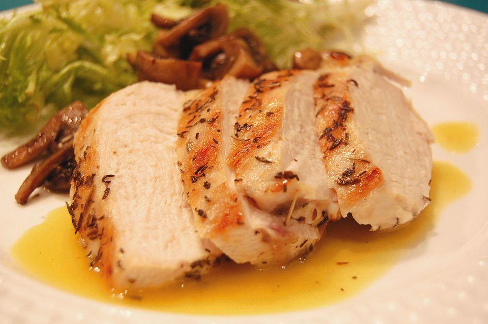 Grilled chicken with honey Dijon vinaigrette
