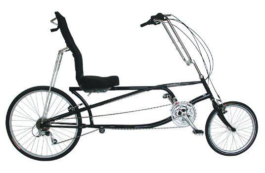 Photo of a recumbent bicycle.