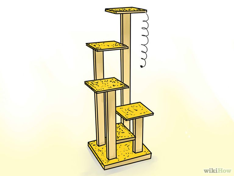 9 free cat tree plans you can diy today for Cat climber plans