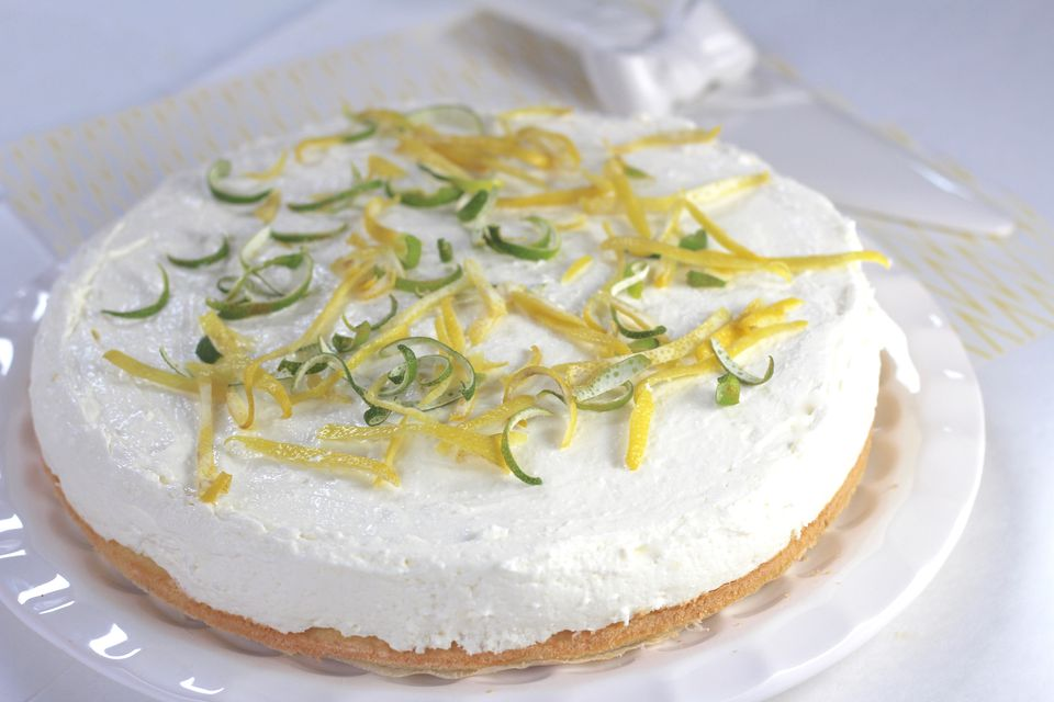 Lemon Lime Yogurt Torte