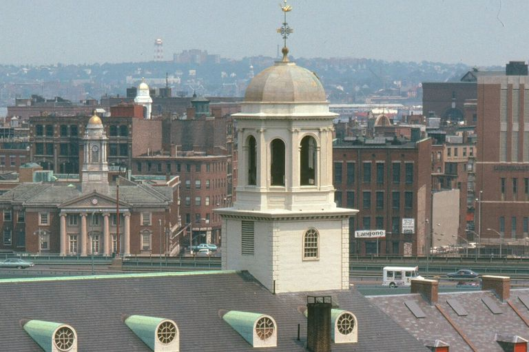 dome, weathervane, belltower - all in the cupola Atop Faneuil Hall