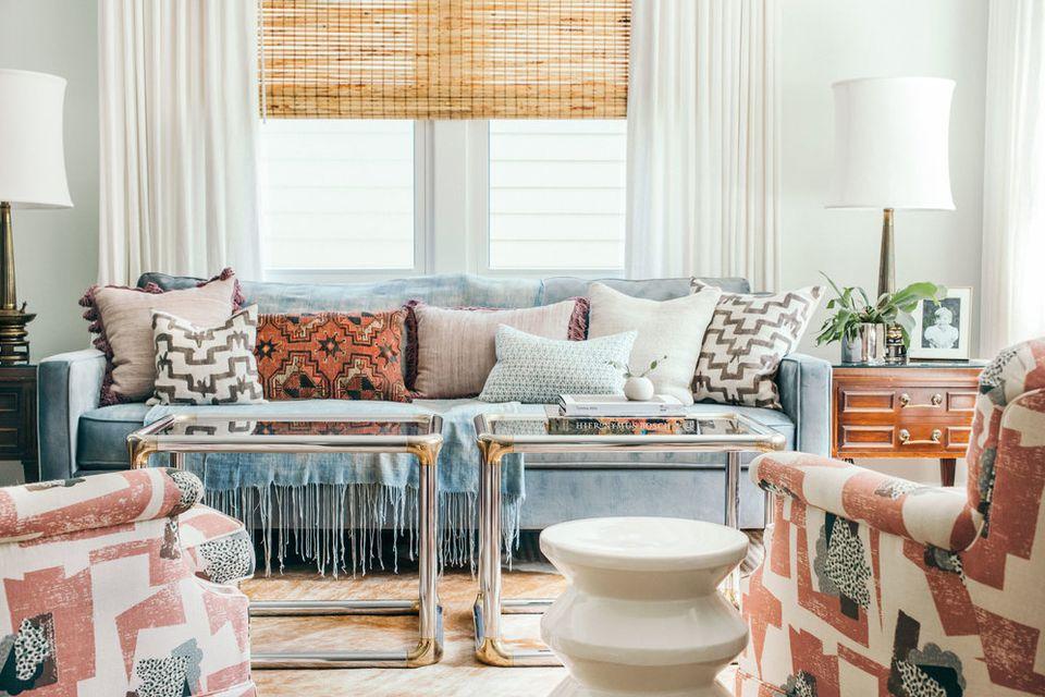 colorful interior design ideas. living room muted colors 35 Colorful Interior Design Ideas