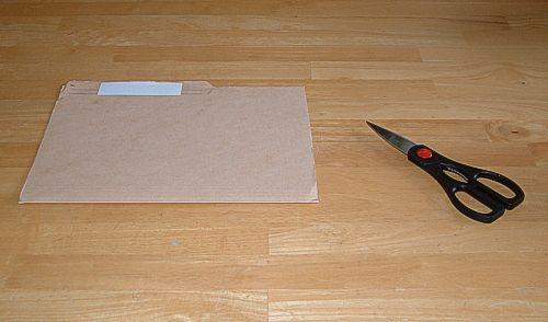 file folder and scissors