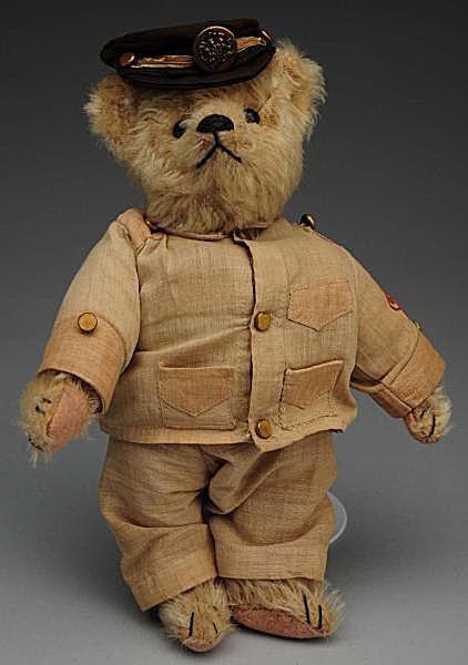 """Steiff Mohair 1930s Teddy Bear with Original """"Teddy B"""" Outfit"""