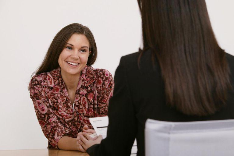 Job interview between businesswomen