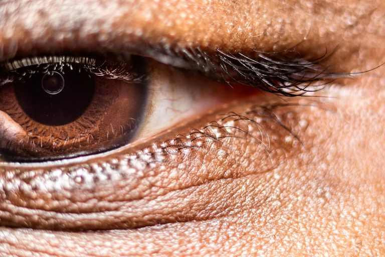 Extreme Close-Up Of Portrait Of Person With Brown Eye Details