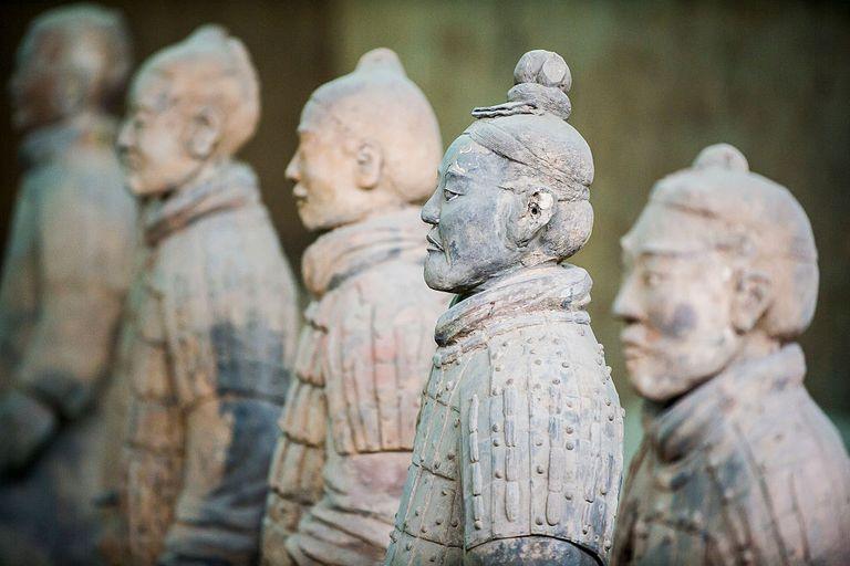 Terracotta Army in Xian, Shaanxi, China