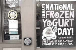National Frozen Yogurt Day promotion