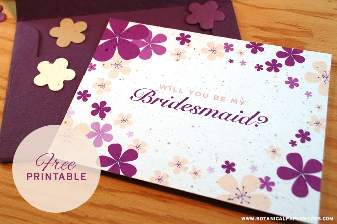 19 free printable will you be my bridesmaid cards spiritdancerdesigns Images