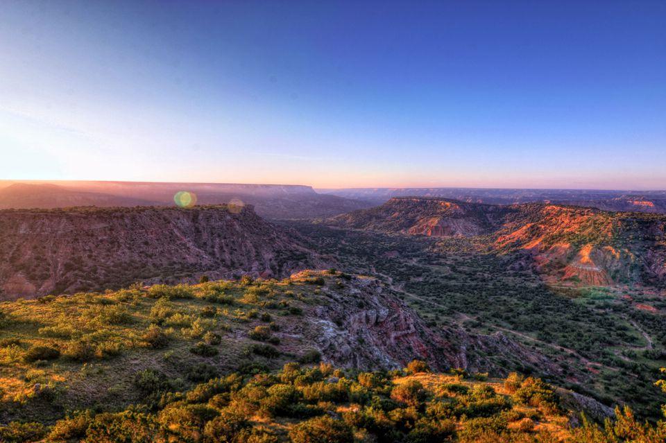 Daybreak over Palo Duro Canyon