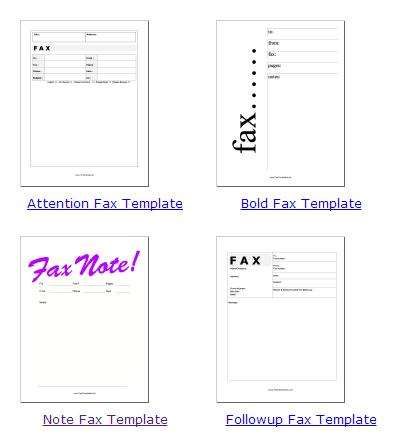 free fax sheet