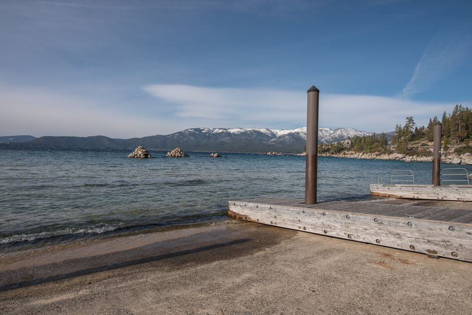 Boat Launch Facilities and Docks in Kings Beach State Recreation Area, Lake Tahoe