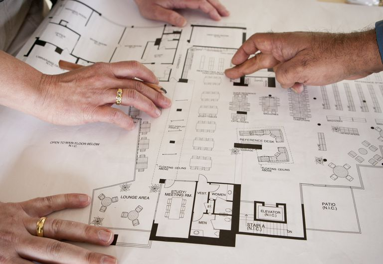 Many hands create and modify floor plans, the organization of interior space