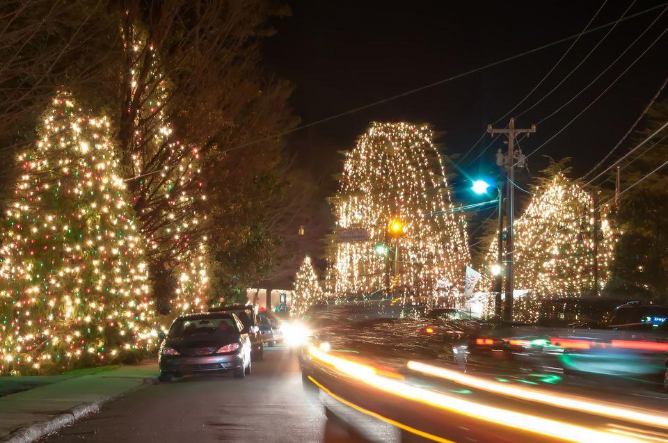 A Christmas display in Raleigh, North Carolina.