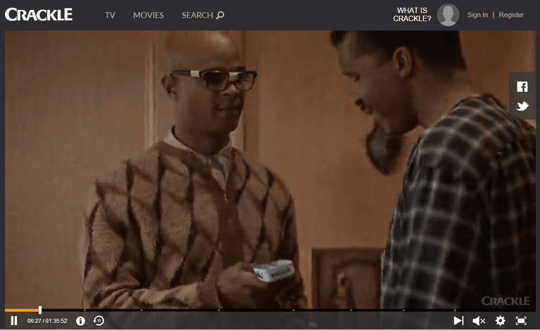 Screenshot of the movie Blankman on Crackle